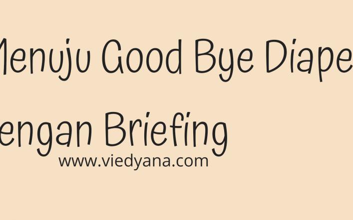 MENUJU GOOD BYE DIAPER DENGAN BRIEFING
