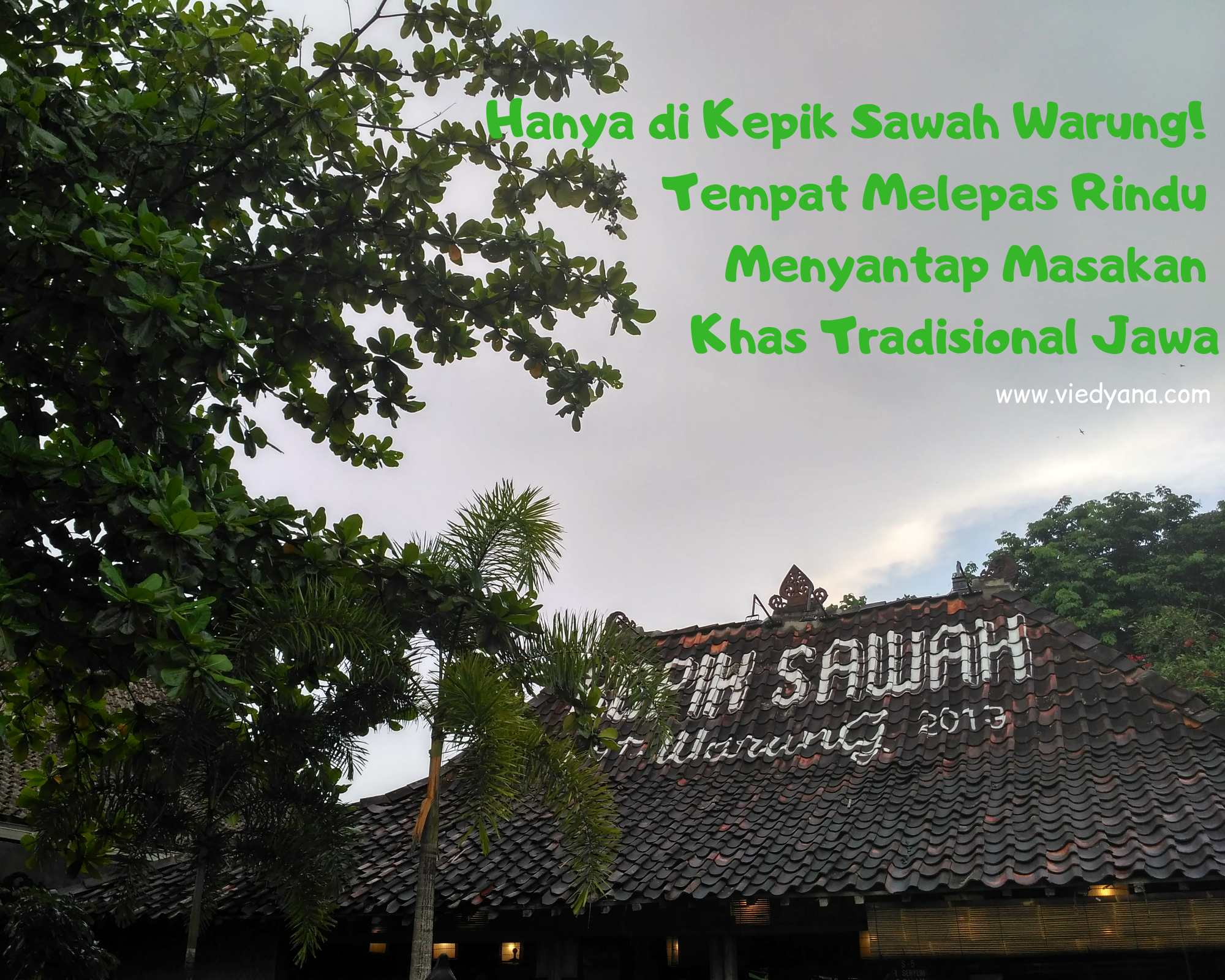 Hanya di Kepik Sawah Warung! Tempat Melepas Rindu Menyantap Masakan Khas Tradisional Jawa